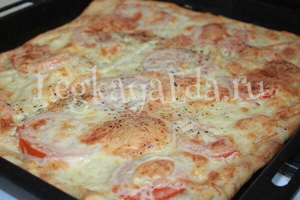 Домашняя пицца без дрожжей