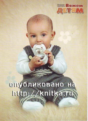 Комбинезон детский вязать
