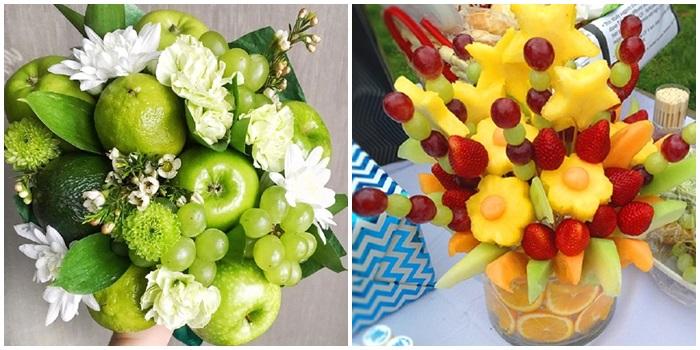 Как делать фруктовые букеты