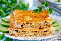 Фото к рецепту: Лазанья из лаваша с фаршем и грибами