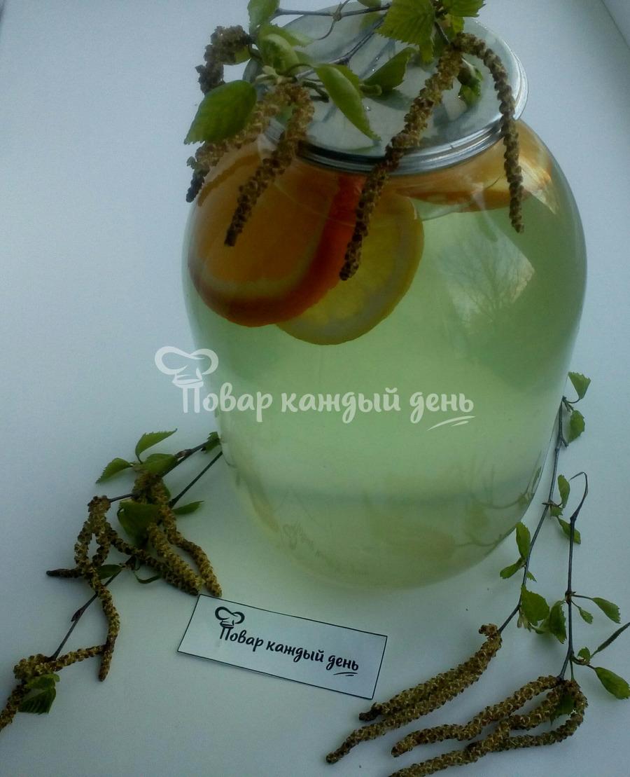 Закрыть березовый сок с апельсином