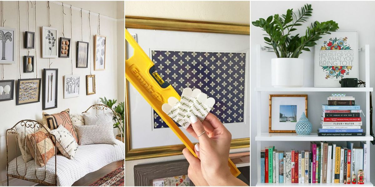 How to hang up frames without nails