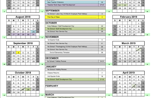Waukesha school district calendar 2011