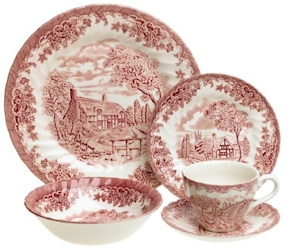Churchill brook pink dinnerware