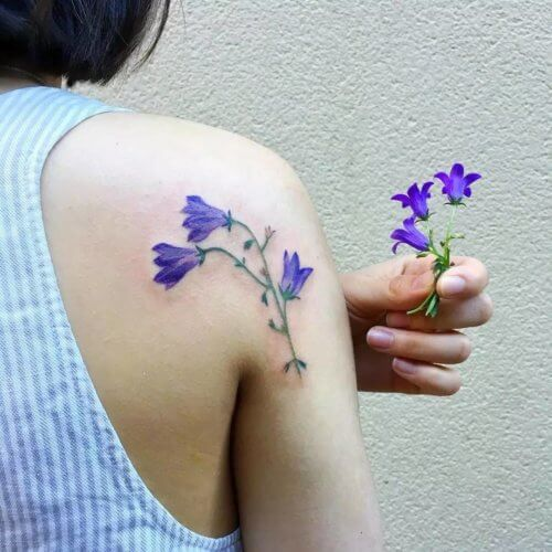 Значение татуировки цветок колокольчик