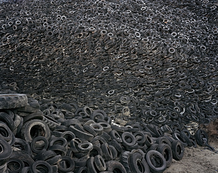 Сбор шин для утилизации