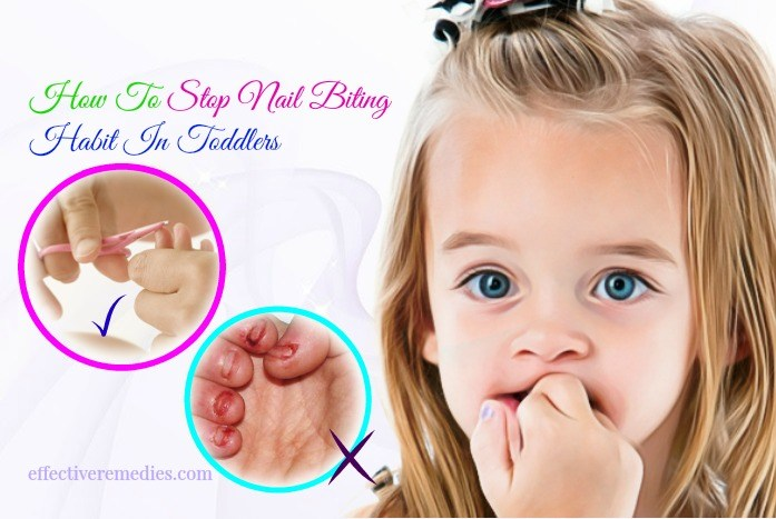 How to get a toddler to stop biting their nails