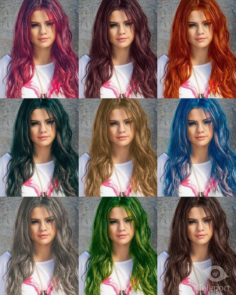 Онлайн поменять цвет волос по фото