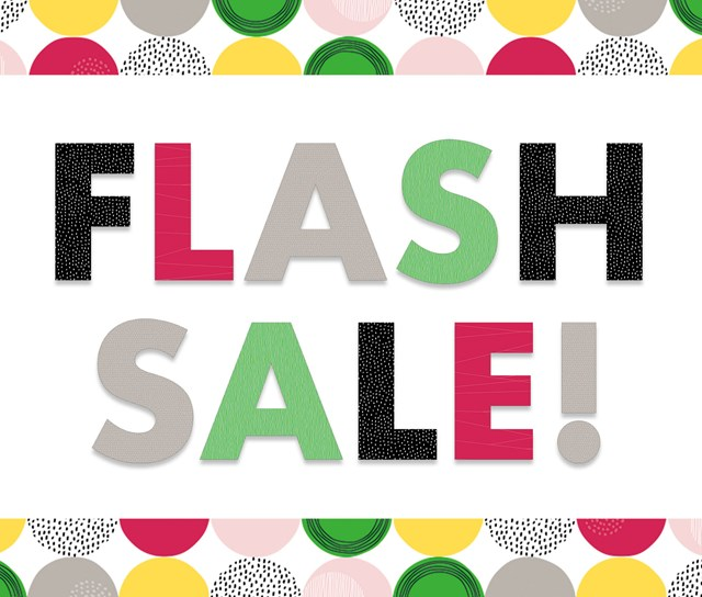 Flash Sale – One day only!