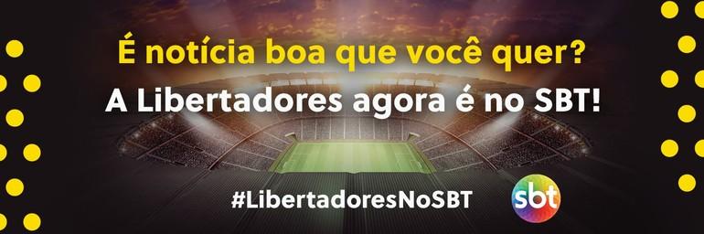 SBT anunciou as transmissões da Libertadores no começo de setembro - Foto: Reprodução/Twitter