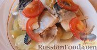 Скумбрия с помидорами запеченная