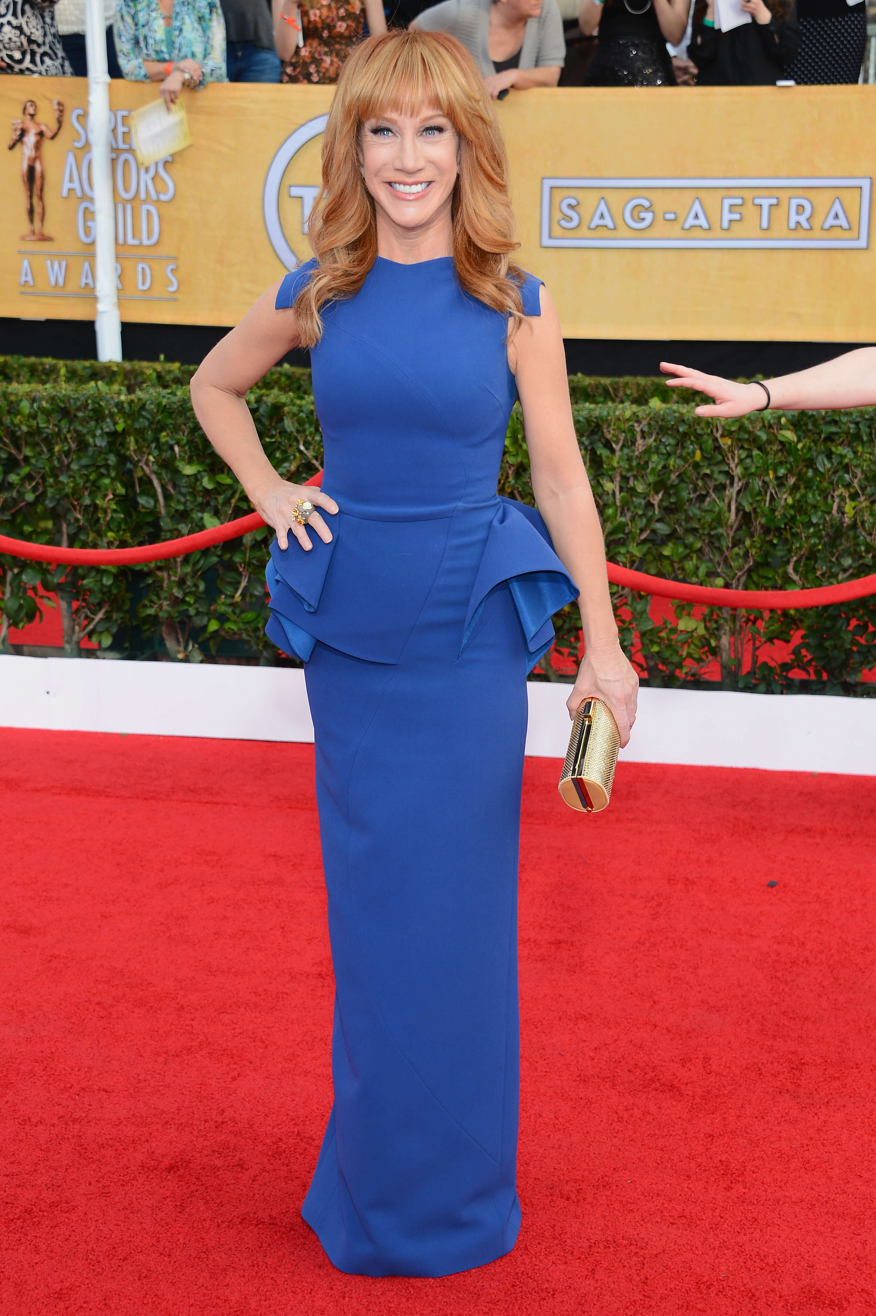 Kathy Griffin sexy blue dress