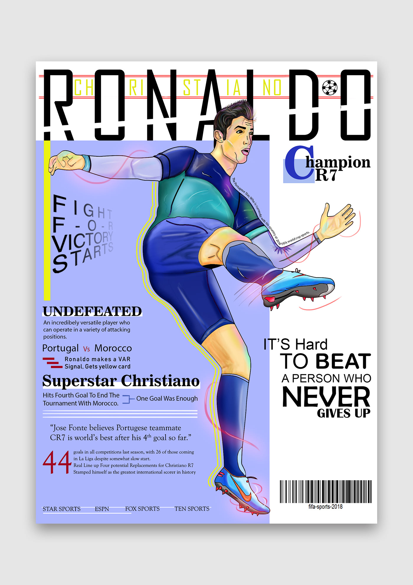Cristiano ronaldo magazine cover