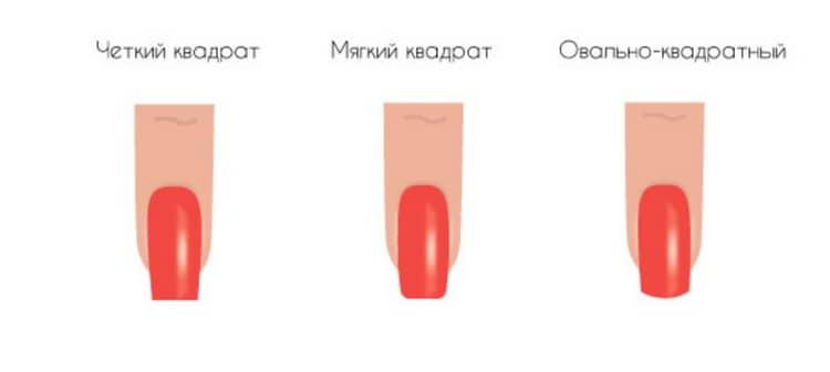 Короткие квадратные ногти как сделать