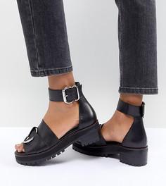 Кожаные сандалии-гладиаторы ASOS DESIGN - Черный