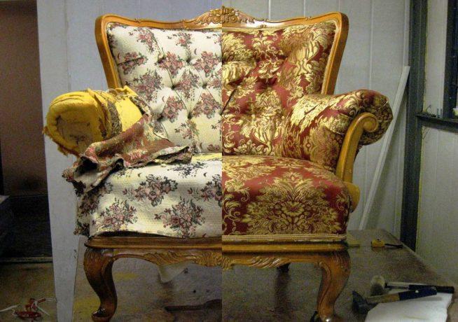 Ремонт мягкой мебели своими руками мастер класс