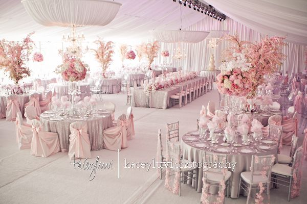 Pink and silver wedding theme pictures