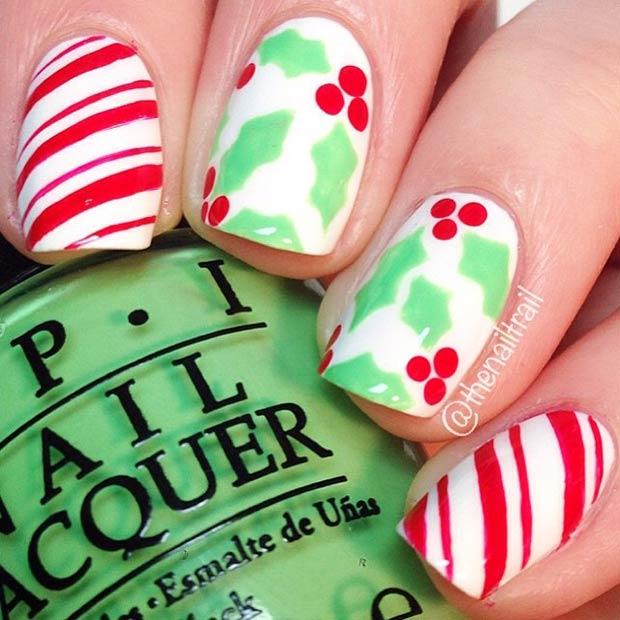 Kids christmas nails