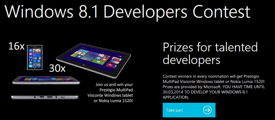 Windows 8.1 development competition