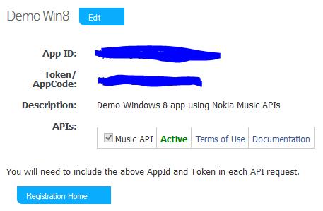 Nokia Music app registration