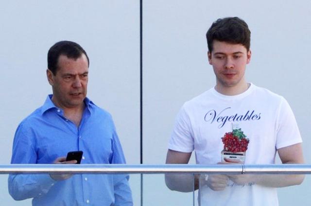 Дмитрий Медведев с сыном Ильей