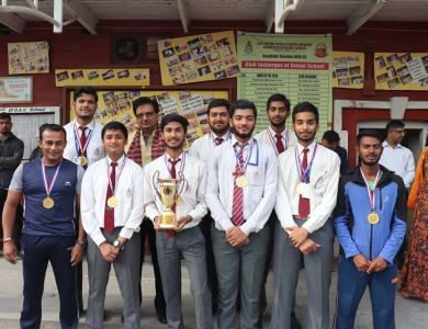 Prize Distribution of 1st Inter College Indoor Cricket Tournament.