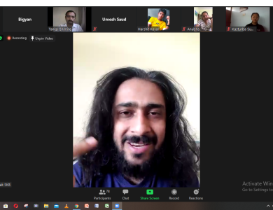 Motivational Webinar Session to Grade XI from Saunak Bhatta