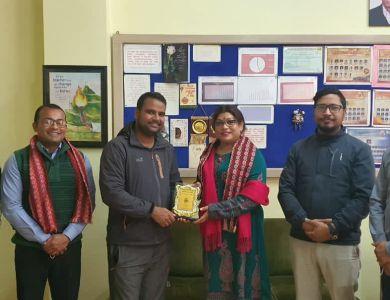 Felicitation from Leo Club of Kathmandu