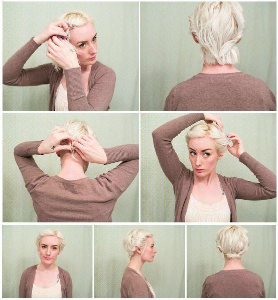 Как собрать красиво короткие волосы