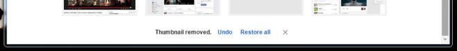 Chrome thumbnails restore