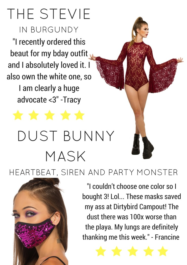 Heartbeat Sequin Dust bunny Mask