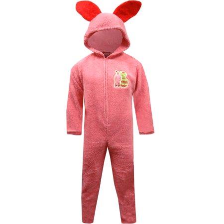 Pink rabbit pajamas christmas story