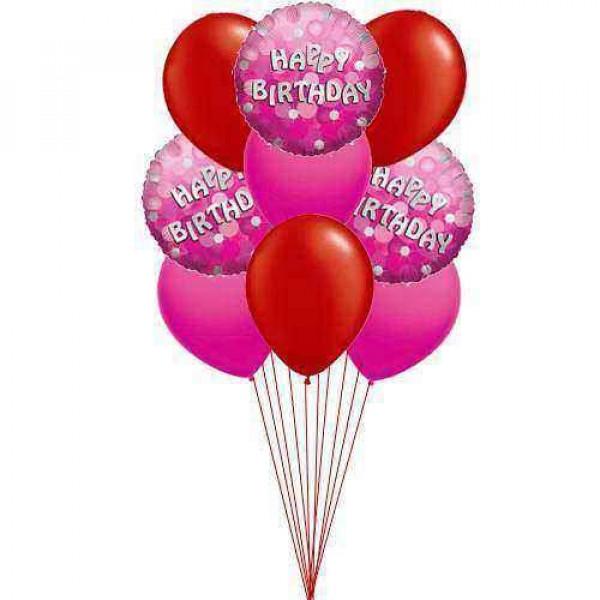 Rich Birthday balloons (4-Mylar & 3-Latex Balloons)