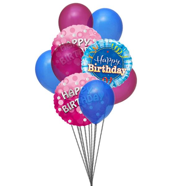 Bunch of lovely happy birthday balloons (3 Latex & 3 Mylar Balloons)