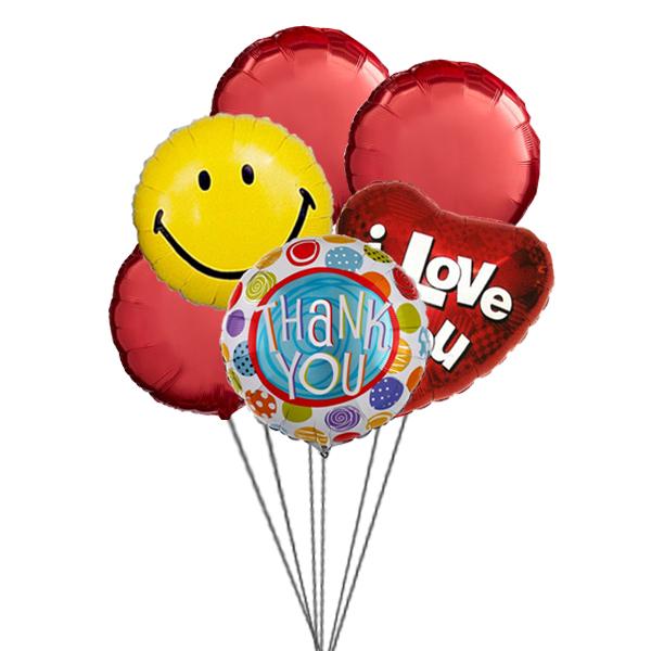 Sweet Smiles Balloons (3 Latex & 3 Mylar Balloons)