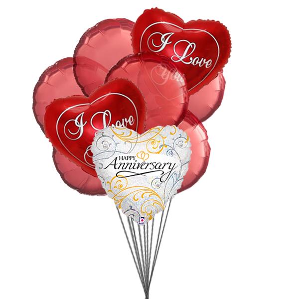 Balloons for loved ones (3 Latex & 3 Mylar Balloons)