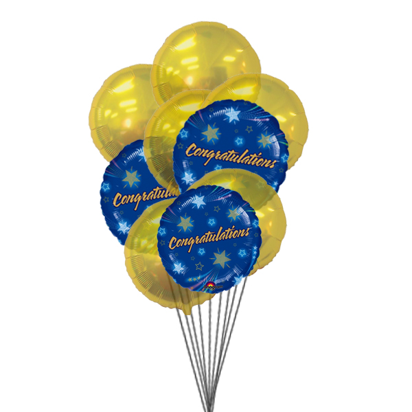 Congratulations Balloons (3 Latex & 3 Mylar Balloons)