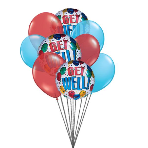 Get well Soon Balloons (3 Latex & 3 Mylar Balloons)