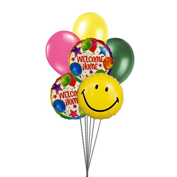 Smily Home (3 Latex & 3 Mylar Balloons)