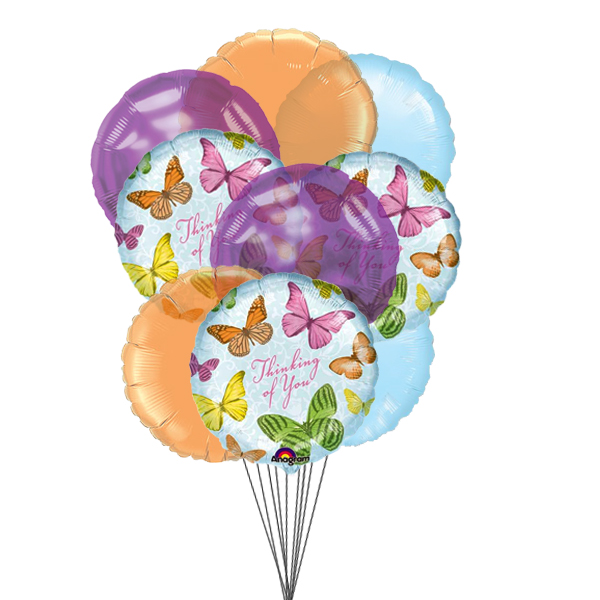 In Your Thoughts Balloons (3 Latex & 3 Mylar Balloons)