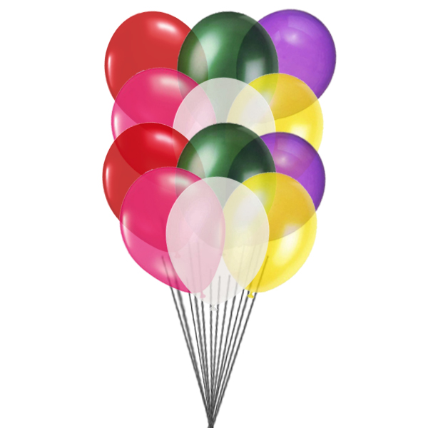 Colorful balloons (6 Latex balloons)