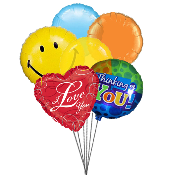 Lovely Balloons (3 Latex & 3 Mylar Balloons)