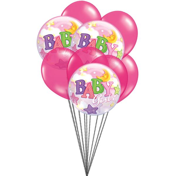 Pink for Girls (3 Latex & 3 Mylar Balloons)