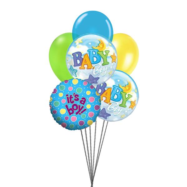 Balloons for Boys (3 Latex & 3 Mylar Balloons)