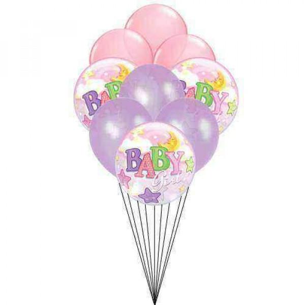 Baby on balloon