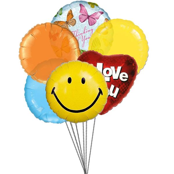 Loveable Balloons (3 Latex & 3 Mylar Balloons)