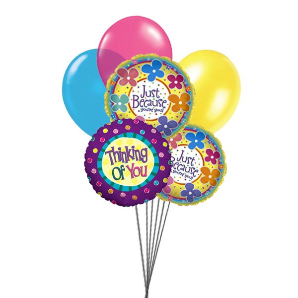 Thinking You (3 Latex & 3 Mylar Balloons)