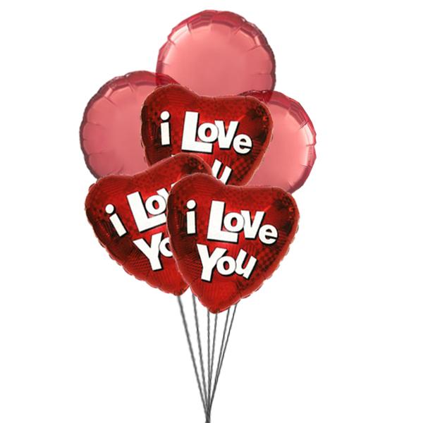 Balloons of love (3 Latex & 3 Mylar Balloons)