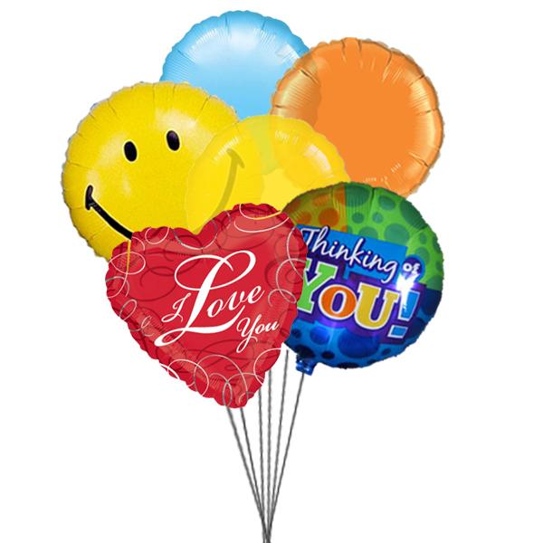Lovely Balloons (3 Latex & 3 Mylar Balloons)