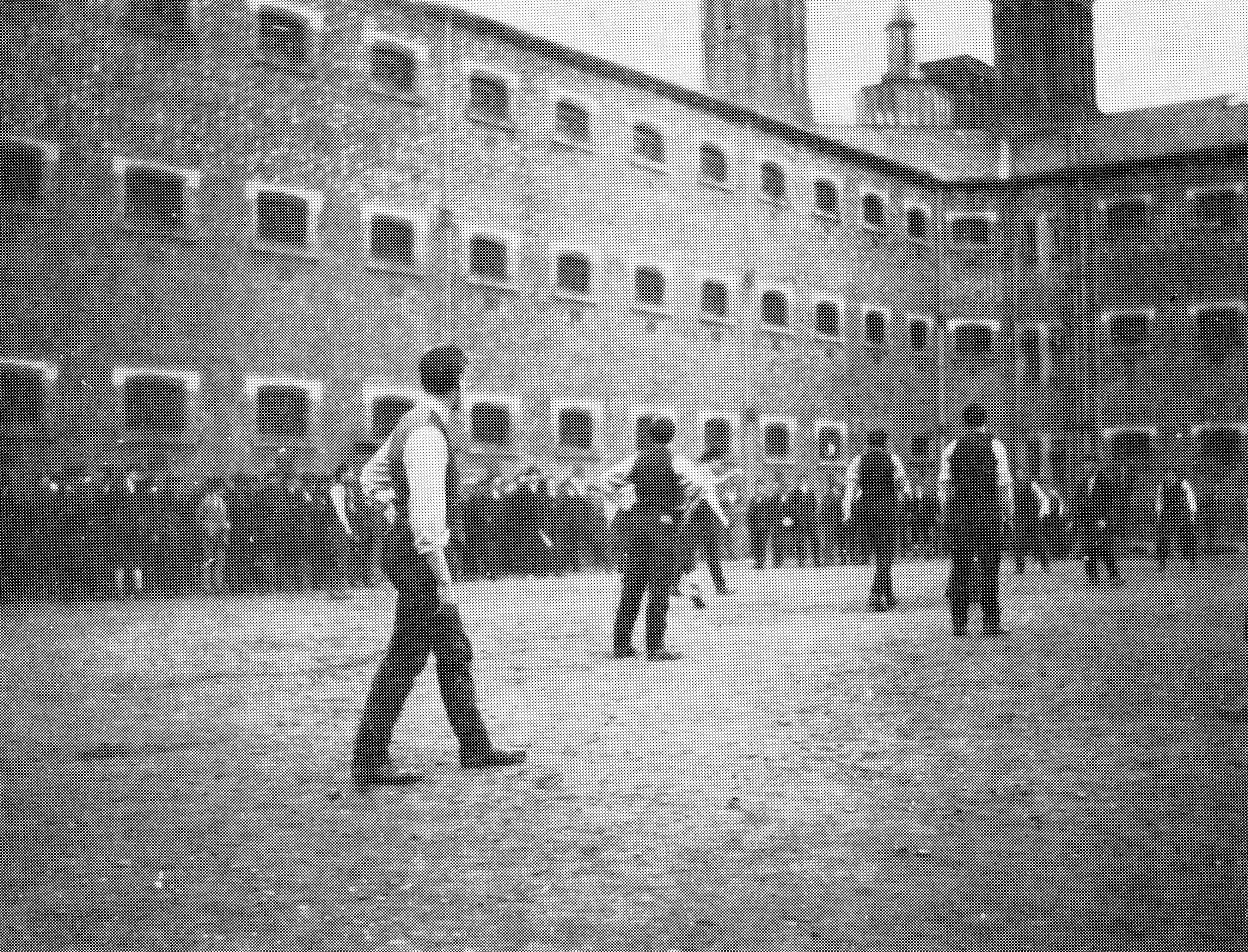 Football Game in Stafford Jail, 1916